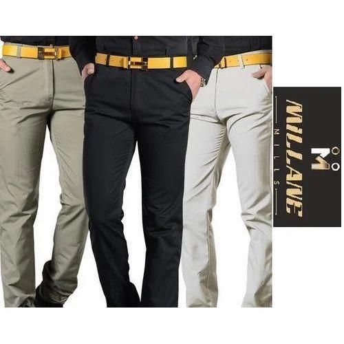 51cb425c348 Mens Cotton Lycra Formal Trouser