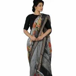 New Designer Wedding Wear Linen Silk Sarees