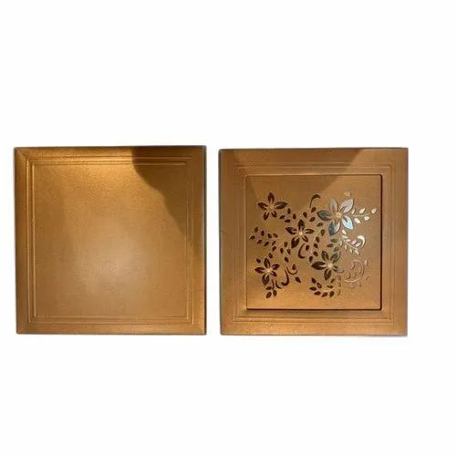 Paper Golden Laser Cutting Wedding Invitation Card Cover ...