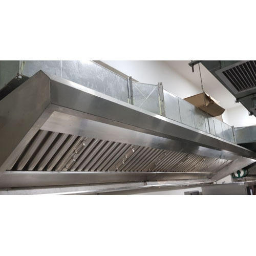 Rectangular, Round Stainless Steel Commercial Kitchen Exhaust system