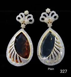 Gold Cubic Zirconia Earring