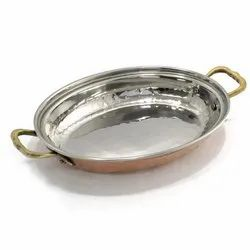 Copper Mughlai Rice Server