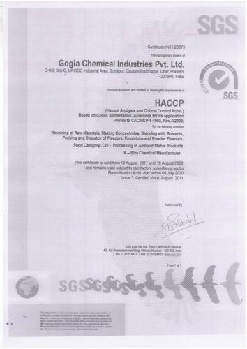 Gogia Chemical Industries Private Limited - Manufacturer from