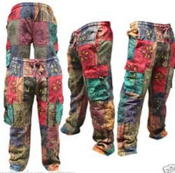 Ladies Cotton Patchwork Trouser