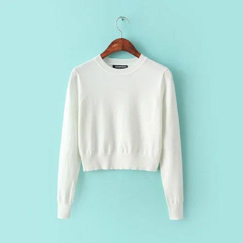 4c4aa21bcc White Girls Plain Sweater