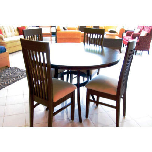 Usha Furniture Brown Wooden Georgia Dining Table Round With Four