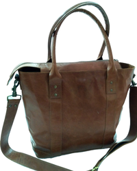 Vintage Leather Tote  Hand Bag