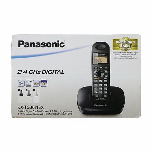Black Panasonic Digital Cordless Phone Kx Tg36115x