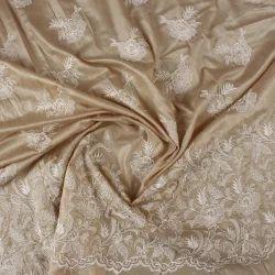 Embroidered Muga Silk Fabric, Use: Garments
