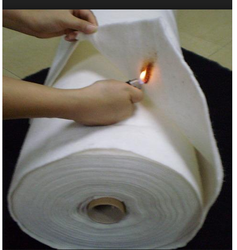 White Plain Fireproof Nonwoven Fabric, For Garment & Agriculture