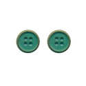 Round Dark Green Metal Buttons, For Shirt, Packaging Type: Polypack