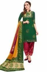 2.50 Mtr Neck, Without Neck Batik Print Dress Material
