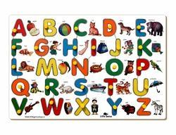 English Alphabet Inset Puzzle With Object Match