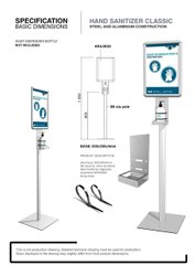 Hotal Hand Sanitizer Stand