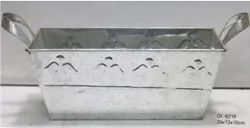 Rectangular Planter Galvanized with Angel Motif