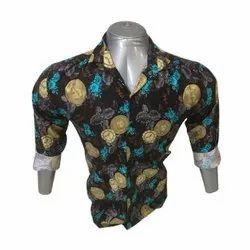 Cotton Printed Mens Casual Full Sleeve Shirt, Machine wash