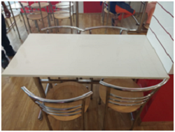 Cafeteria Chair with Table