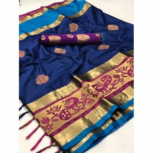 Festive Wear Indian Banarasi Saree 6 M (with Blouse Piece)