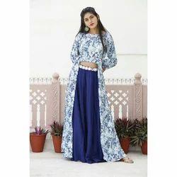 Cotton Printed Ladies Indo Western Dress