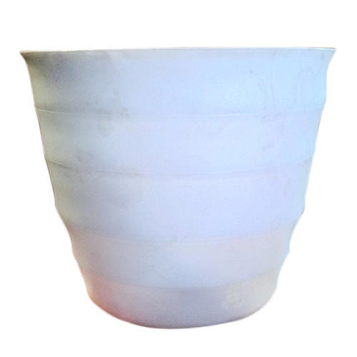 Round White Plastic Flower Pot Size 10 Inch Rs 80 Piece Id