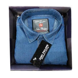 40 ,42 Blue Mens Denim Shirts