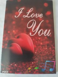 Rectangular Valentine Day Love Card Musical, Recordable Voice Greeting Card