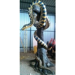 Anaconda with Tree Statue