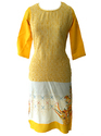 Lavanya Cotton White and Yellow Kurti