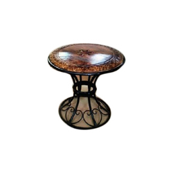 Planet Expo Wrought Iron and Wooden Wrought Iron Table