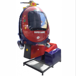 Red Oval Helicopter Kids Rides, For Amusement Park, Capacity: Single Child