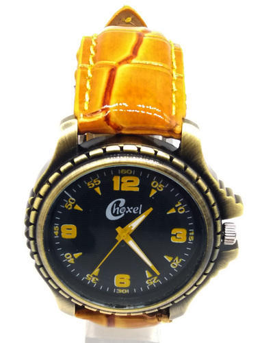 Choxel Stylish Analogue Wrist Golden Watch For Mens