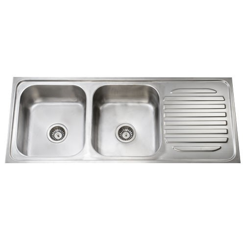 Stainless Steel Double Bowl Single Drain