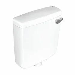 White Smart Single Flush Wall Hung Cistern