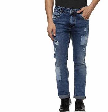 c229f55a0c1 Blue Dark Super Slim Distress Jeans at Rs 1850  piece