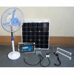 Solar DC Power System with 100 Watt Solar Panel