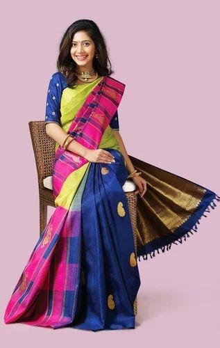 Bridal Silk Sarees - Vivaha Bridal Pure Kanchipuram Silk