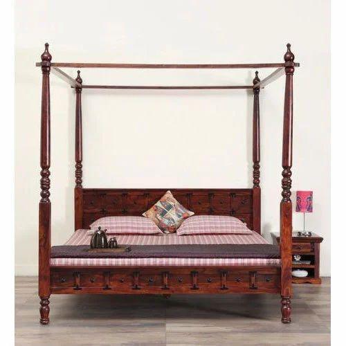 Teak Wood Poster Bed Rs 28000 Piece Designer Furniture Id