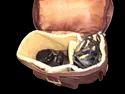 Camera Organizer Leather Backpack