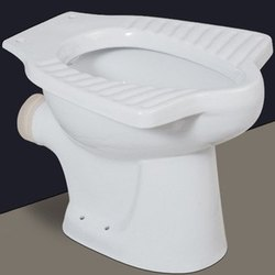 Open Front Floor Mounted White Anglo Indian P Trap Toilet Seat, For Bathroom Fitting, Size/Dimension: 20x23 Inch
