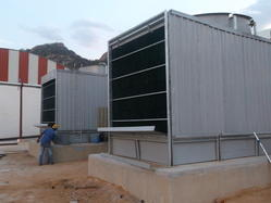 Double Cross Flow Cooling Towers