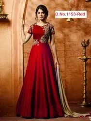 New Long Gown With Dupatta