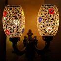 Earthenmetal Double Glass Wall Lamp