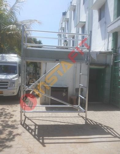 Silver Instafit Aluminum Double Width Scaffolding With Stairway