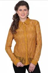 Mustard Yellow Lace Mustard Lace Shirt