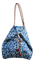 Brown Soil Blue And Brown Cotton Designer Bag