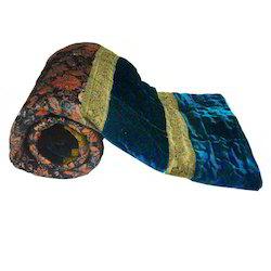 Rajasthani Design Green Double Bed Velvet Quilt 403