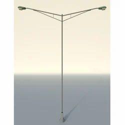 Double Arm Street Lighting Pole