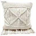 Round Macrame Pillow Case Decorative Throw Cushions Floor Cushion Covers