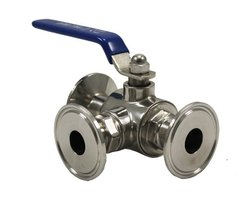 SS TC End 3 Way Ball Valve