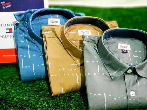Cotton/Linen Men' s Branded Shirts